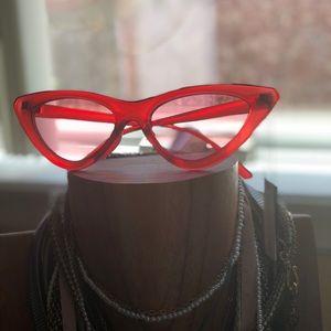 Red retro cat eye sunglasses 🕶